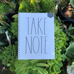 Rae Dunn 'TAKE NOTE' X-Large Notebook